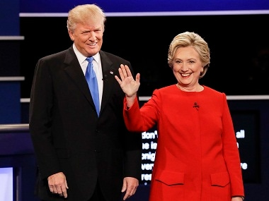 A file photo of Donald Trump and Hillary Clinton. AP