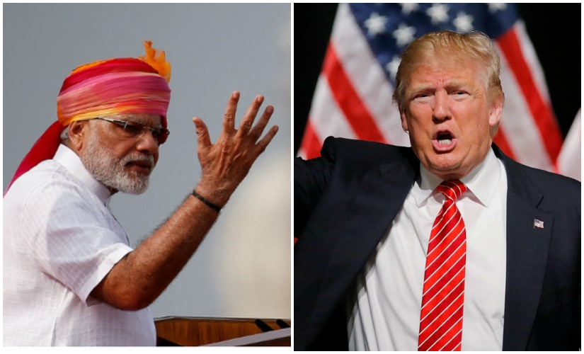 File images of Narendra Modi and Donald Trump. PTI and AP
