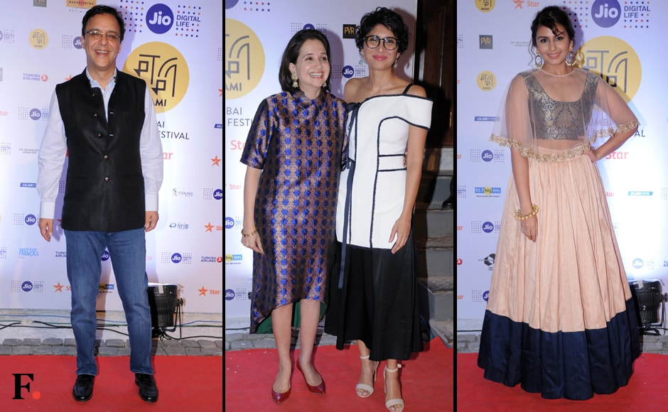 Vidhu Vinod Chopra, MAMI Festival Director and acclaimed film critic Anupama Chopra with Kiran Rao and Huma Qureshi.  Sachin Gokhale/Firstpost