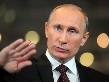 File photo of Russian President Vladimir Putin. AP