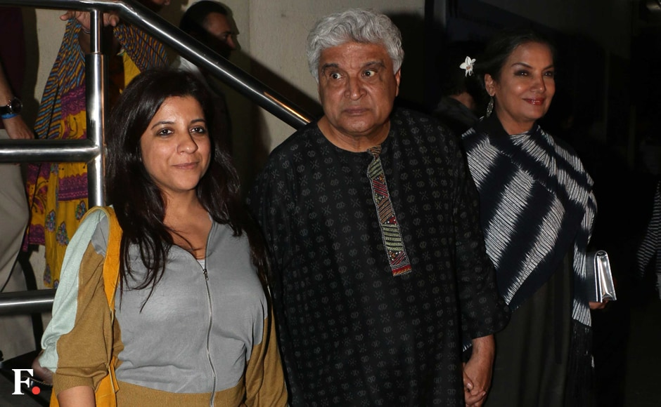 Javed Akhtar with wife Shabana Azmi and daughter Zoya Akhtar. Sachin Gokhale/Firstpost