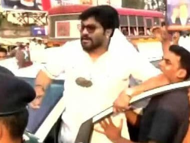Babul Supriyo was allegedly attacked by TMC workers. Twitter @satish888