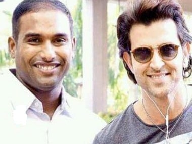 Mayur Shettigar with Hrithik Roshan. Image from Facebook