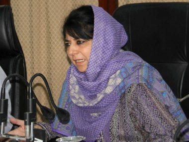 File image of Kashmir Chief Minister Mehbooba Mufti. PTI