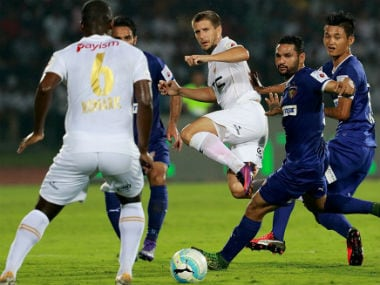 NEUFC could not convert the chances they got against Chennaiyin. Imge courtesy: Twitter/ @IndSuperLeague