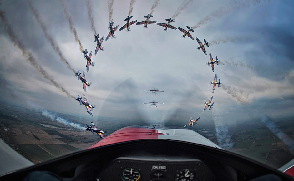 The Sequence by Sony category winner is Daniel Vojtěch from Czech Republic. His shot of Flying Bulls pilots Miroslav Krejci, Jan Rudzinskyi, Stanislav Cejka and Jan Tvrdic in Jaromêř, Czech Republic won him the title. Daniel Vojtěch/ Redbull Illume