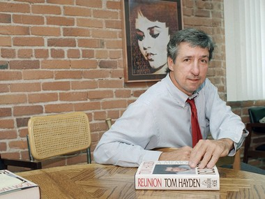 A file photo of Tom Hayden. AP