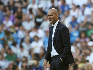 File photo of Real Madrid coach Zinedine Zidane. Reuters