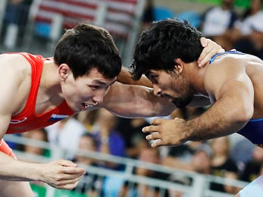 File photo of Indian wrestler Sandeep Tomar. AFP