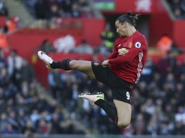 Manchester United's Swedish striker Zlatan Ibrahimovic. AFP