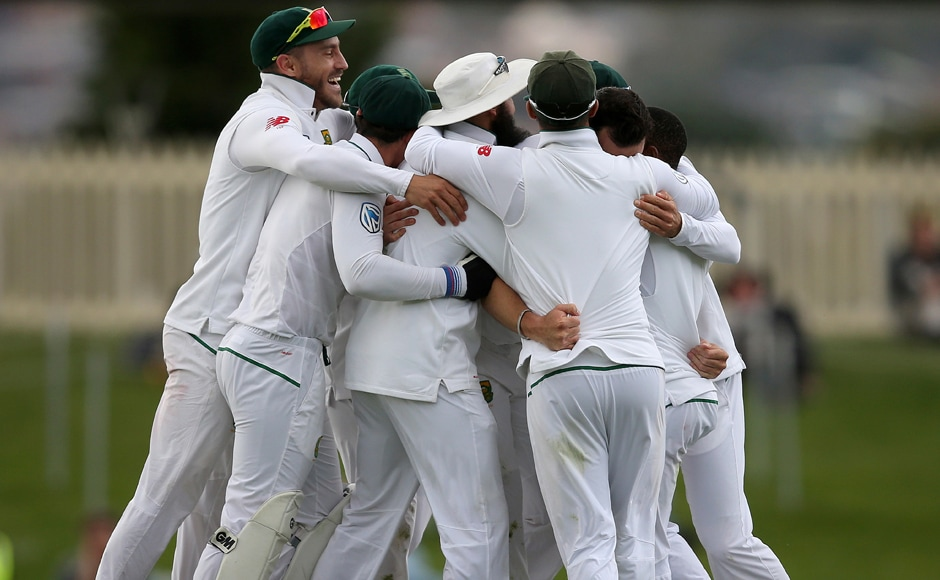 South Africa won their second Test match against Australia in the Hobart. AP