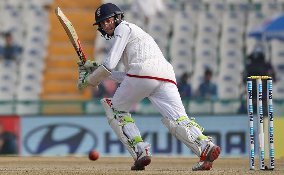 Haseeb Hameed scored a brave half-century that helped England finish their second innings at 236. He has a broken finger in his left hand, and is out of the remaining two tests. (AP Photo/Altaf Qadri)