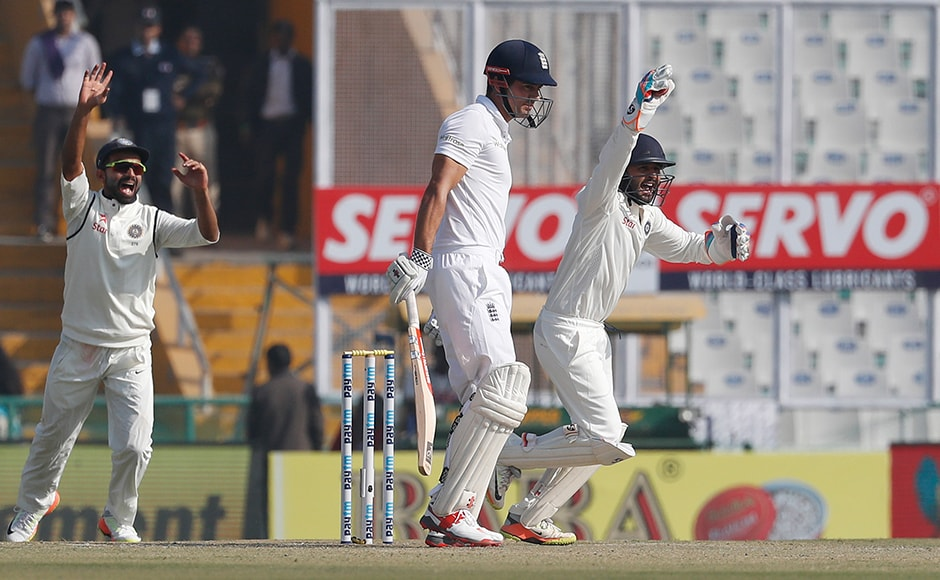 Alastair Cook won the toss and opted to bat. He was dropped twice but was eventually dismissed at 27 by Ravichandran Ashwin. AP
