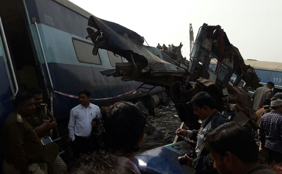 Railway Minister Suresh Prabhu and the Chief Ministers of Uttar Pradesh and Madhya Pradesh, where the train originated, also announced financial compensation to the dead and the injured. Photo: Naveen Lal Suri/ Firstpost