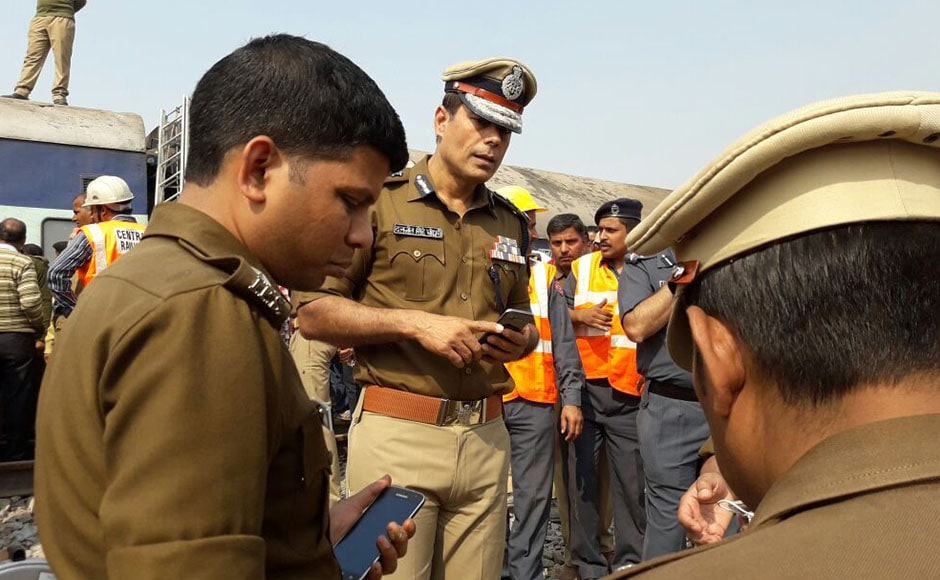 The horrific disaster took place when the Patna-bound train's coaches ran off the rails just after 3 a.m. near Pukhrayan station, about 60 km from Kanpur city, railway and police officials said. Photo: Naveen Lal Suri/Firstpost