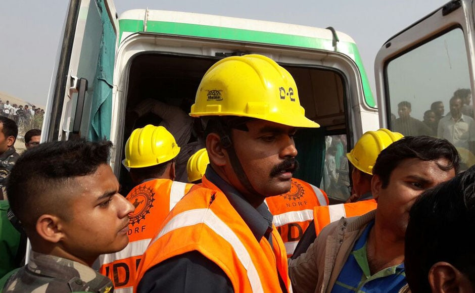 The passengers were asleep when the disaster struck, taking everyone unawares. The first to derail were the S1 and S2 coaches, which suffered the maximum damage. Photo: Naveen Lal Suri/ Firstpost