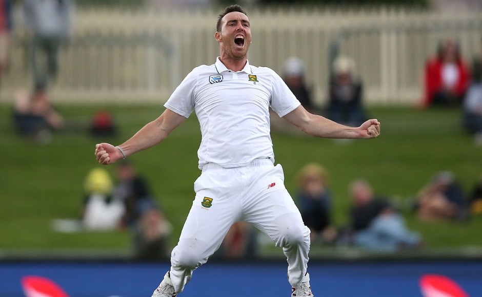 Kyle Abott was the pick of the South African bowlers with six wickets in the second innings to skittle the Aussies out for a paltry 161. AP
