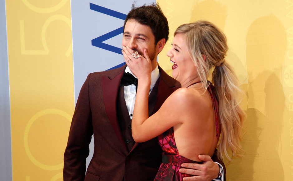 Singer Kelsea Ballerini poses with a guest. Breakout Tennessee singer-songwriter Kelsea Ballerini brought the first solo performance to the CMA Awards on Wednesday with her recent number