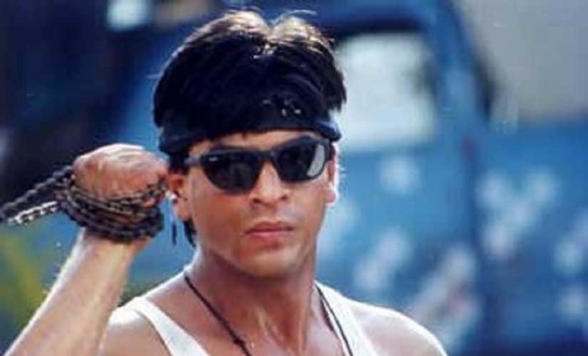 Shah Rukh Khan in the film Josh. Image courtesy: Pinterest.