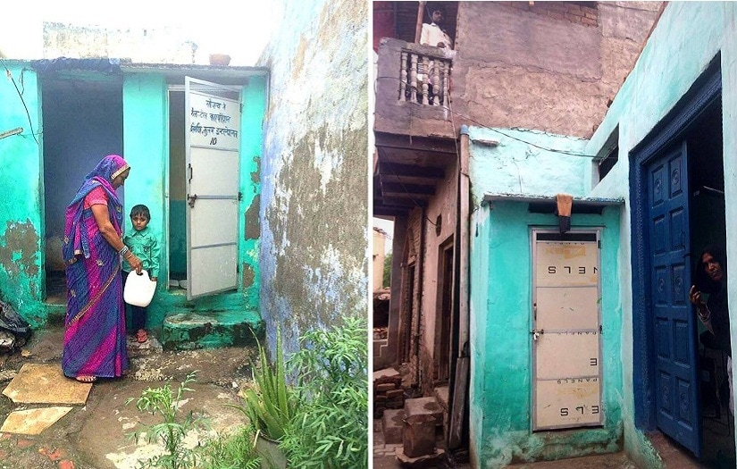 A total of 167 eco-friendly two-pit toilets are functioning. Each home has a toilet attached.