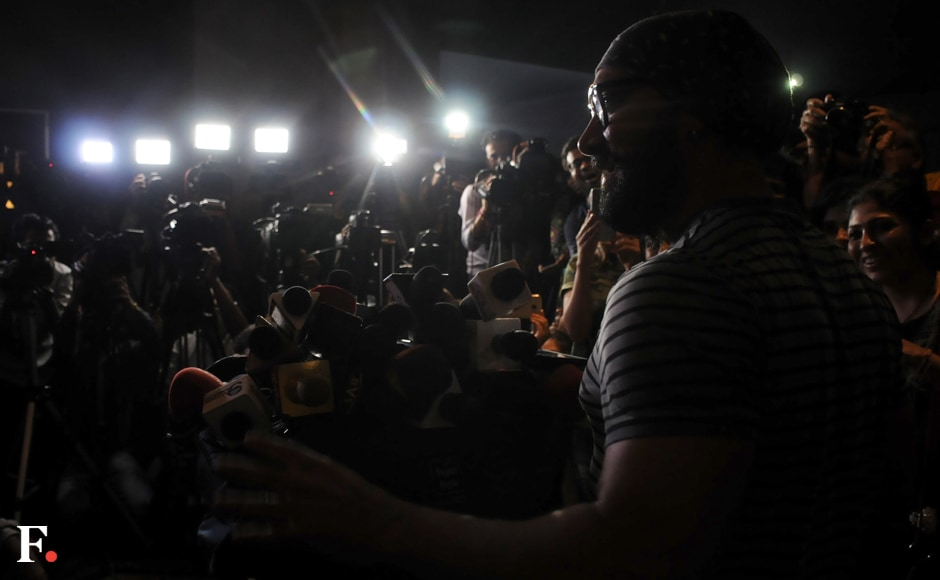 Aamir Khan addresses the media at the event. Courtesy: Sachin Gokhale/Firstpost