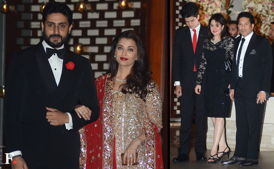 Abhishek Bachchan and Aishwarya Rai Bachchan; Sachin Tendulkar and his family.