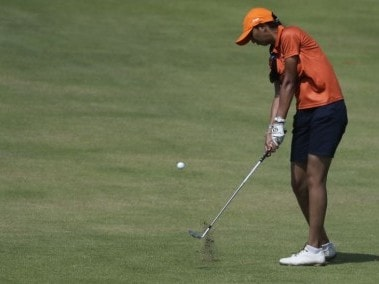 File photo of Aditi Ashok of India. AP