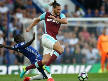 File image of Andy Carroll (R). AFP
