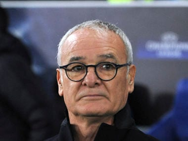 Leicester manager Claudio Ranieri waits for the start of the Champions League Group G clash against Club Brugge. AP