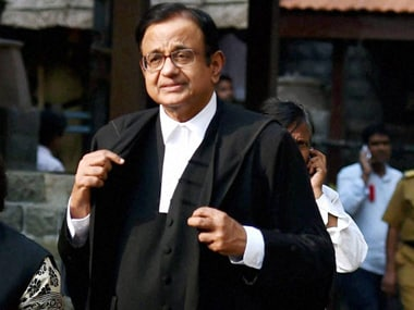 A file photo of Chidambaram. PTI