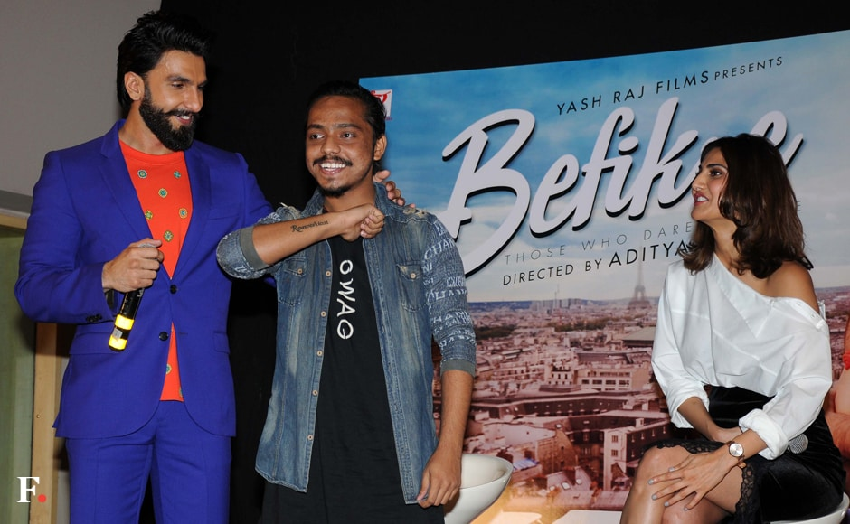 Ranveer Singh's whacky sense of dressing came into full play with his blue and orange ensemble. Sachin Gokhale/Firstpost