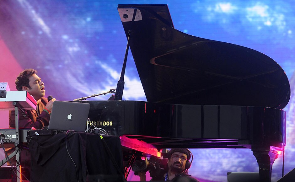 AR Rahman performed his famous track during the Global Citizen India Festival. Sachin Gokhale/Firstpost