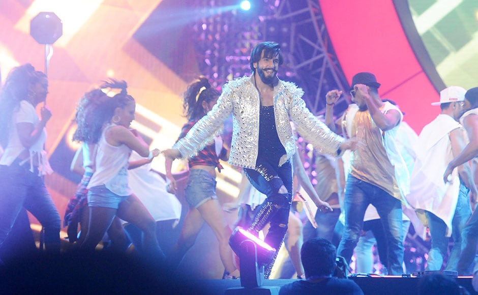 Ranveer Singh performs at the concert which also had performances by artists like Farhan Akhtar and Sonakshi Sinha among others. Sachin Gokhale/Firstpost