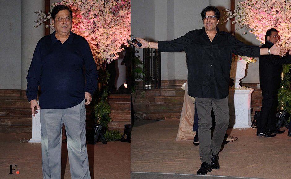 David Dhawan and Anil Dhawan at the reception. Sachin Gokhale/Firstpost