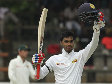 Dhananjaya de Silva remained unbeaten on 119 at the end of day's play. AP