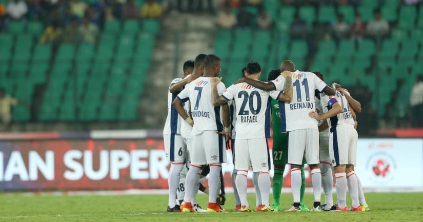 FC Goa during match 12 of the Indian Super League (ISL) season 3 against Chennaiyin FC. ISL