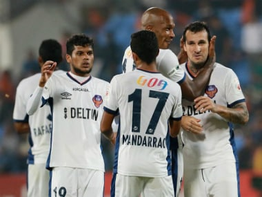 File image of FC Goa's players. Image credit: Twitter/FCGoaOfficial