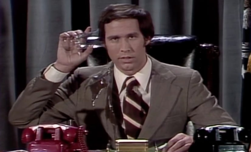 Chevy Chase as Gerald Ford. YouTube.