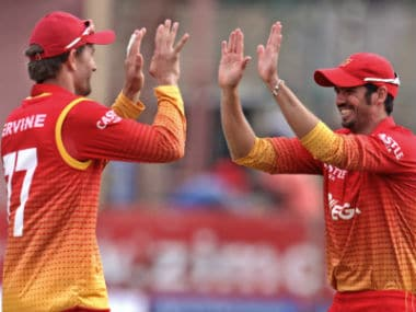 Zimbabwe got their first points on board in the ongoing tri-series as a result of the tie. AFP