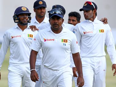 Rangana Herath followed up his five-wicket haul in the first innings with 5 for 45 in the second. AFP