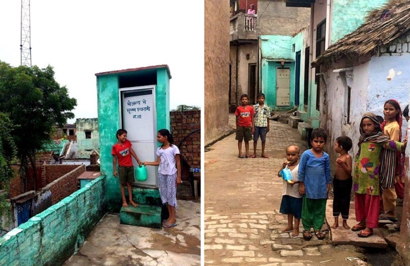 Hirmathala's children taught good sanitation habits. The immunity of children has gone up excessively since the construction of toilets.
