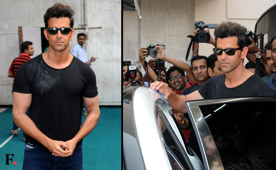 Hrithik dresses down for this appearance too. Image by Sachin Gokhale/Firstpost