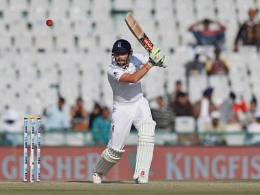 England's Jonathan Bairstow plays a shot on Day 1. AP