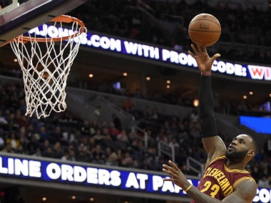 LeBron James is the youngest player 27,000 to reach career points. AP