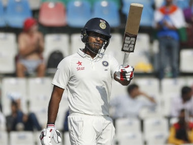 Jayant Yadav brought up his maiden Test fifty in only his second appearance. AP