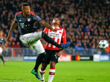 File photo of Jerome Boateng (L). Reuters