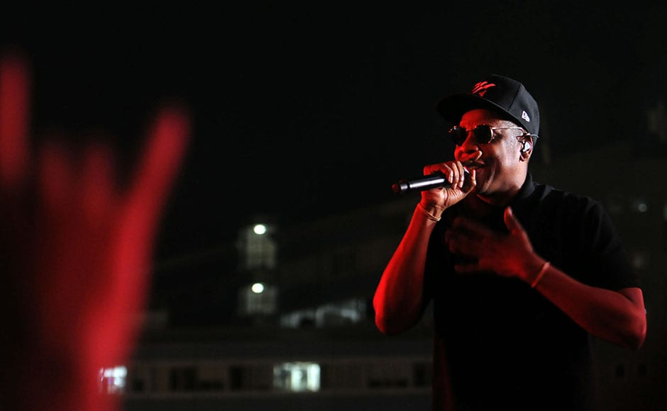 Jay- Z during his performance at the festival. Sachin Gokhale/Firstpost