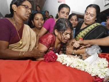 52-year-old Mohanan K, worker of ruling CPM, was hacked to death in Kannur on 10 October. Image courtesy: Sourced by TK Devasia