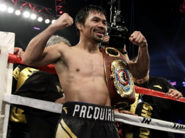This is the third time Manny Pacquiao has claimed the title. AFP