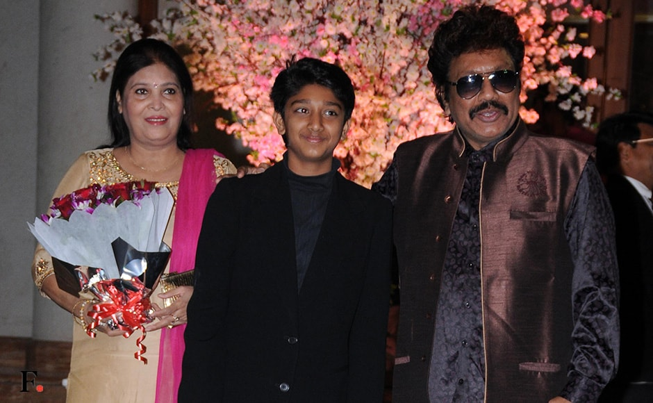 The music director Shrawan Rathod arrived with family. Sachin Gokhale/Firstpost